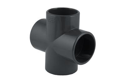 Picture of UH-PVC Yapıştırma Muflu 90° Kruva (Istavroz)