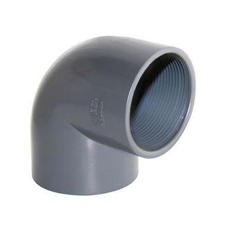 Picture of UH-PVC 90° Çift Tarafı İçten Dişli Dirsek