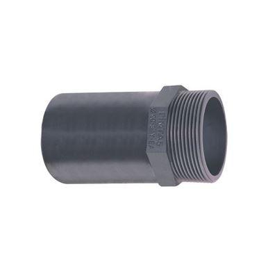 UH-PVC Yapıştırma Muflu Dış Dişli Adaptör resmi