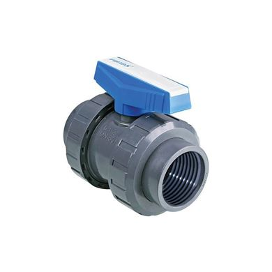 U-PVC Küresel Su Vanası (Çift Taraf İçten Dişli) resmi