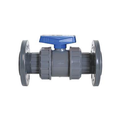 Picture of U-PVC Yapıştırma Muflu Küresel Su Vanası (Çift Taraf Flanş Bağlantılı)