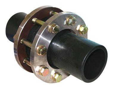 PN 10 HDPE Çıkışlı Çelik (304) Flanşlı U-PVC Çalpara Çekvalf (Takım) resmi